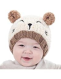 Gotd Baby Girls Boys Kids Toddler Knit Cap Warm Earflap Hat