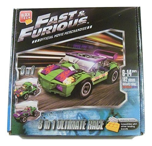 Fast and Furious Build Your Own Vehicle ~ 3-in-1 Ultimate Race (182 Pieces; Official Movie Merchandise)