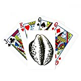 Black Marine Life Scallop Pattern Poker Playing Card Tabletop Board Game Gift