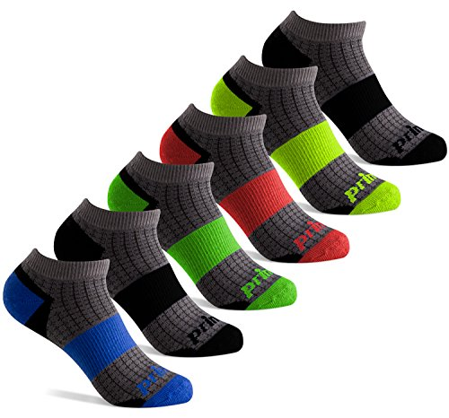 Prince Boys Low Cut Athletic Socks for Active Kids (9-2.5 (Little Boys), Grey)