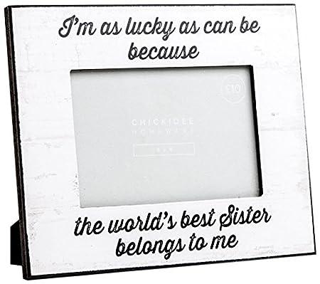 Chickidee Homeware Worlds Best Sister Belongs to Me Photo Frame ...