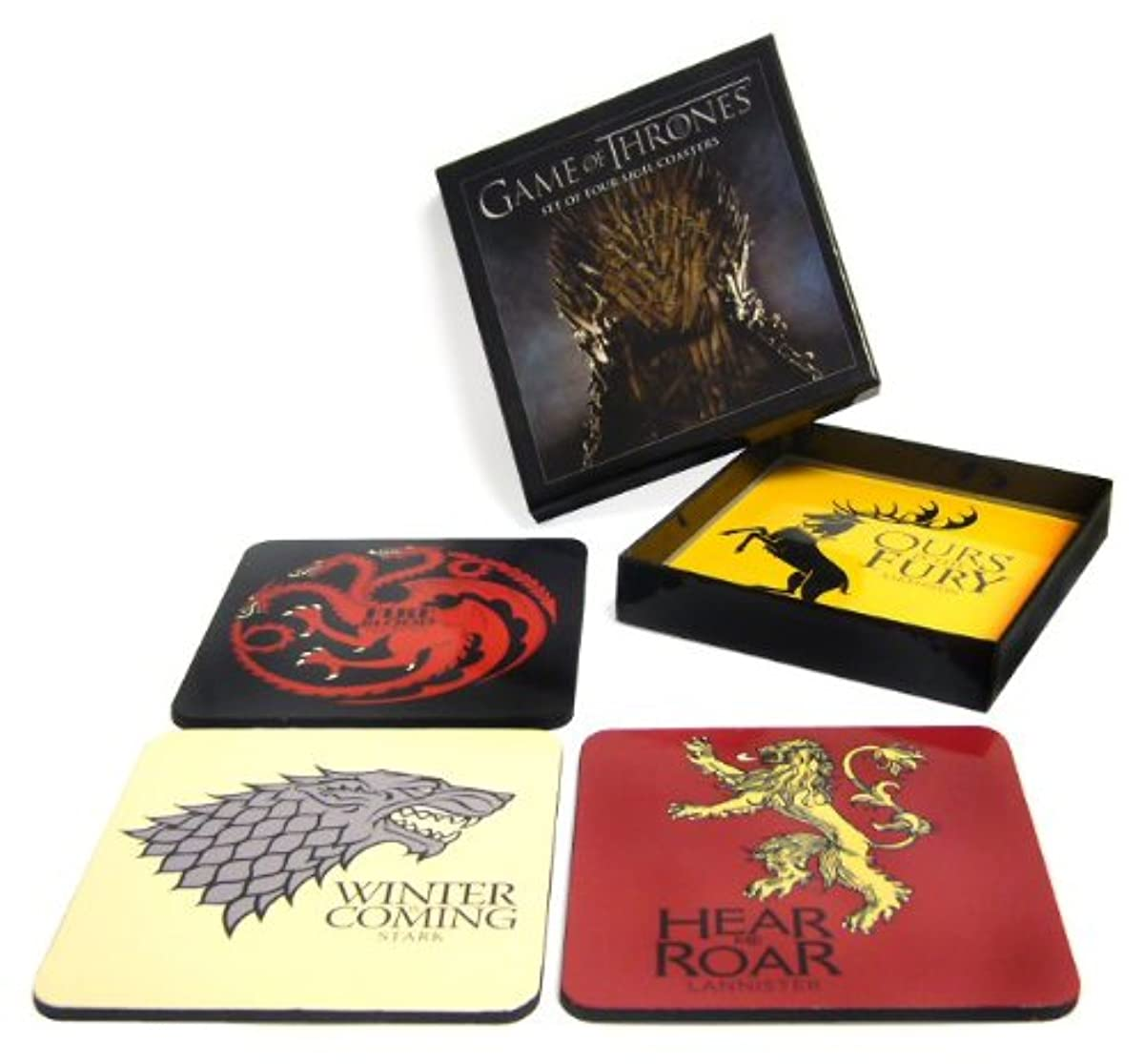 Game of Thrones: House Sigil Coaster Set of 4 Coaster - great gift for fans of G