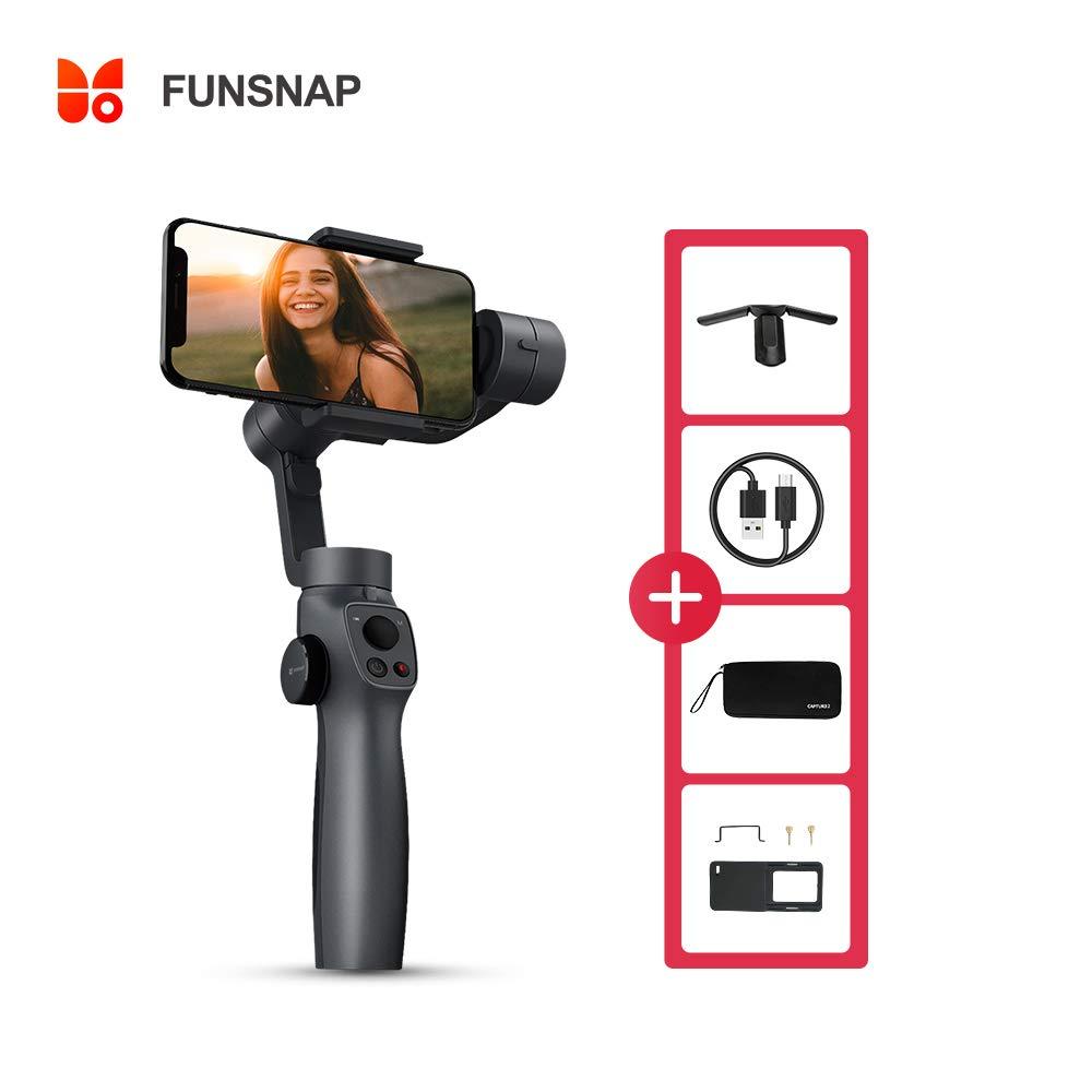 Surfit FUNSNAP Capture 2 Cardan de Poche /à Trois Axes Stabilisateur de Cardan Compatible avec iPhone 11 Pro XS XR X 8 Plus 7 6 Smartphone Android pour Vid/éo Youtube Vlog en Direct
