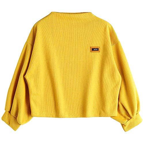 Yellow Vinyl Shelf Guides - HGWXX7 Clearance!!! Women's Fashion Long Sleeve Loose Drawstring Hoodie Sweatshirt Blouse Tops(M,Yellow)