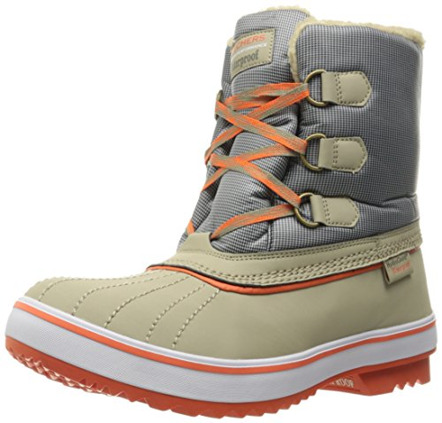Boot Women's Skechers Orange Waterproof Polar Bear Highlanders Snow Grey Taupe 6RqqwYOd