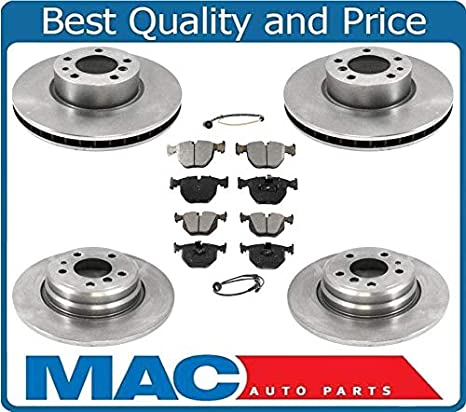 New Front 2 Drilled Slotted Brake Rotors Disc fits 95-01 BMW 740i E38 Models