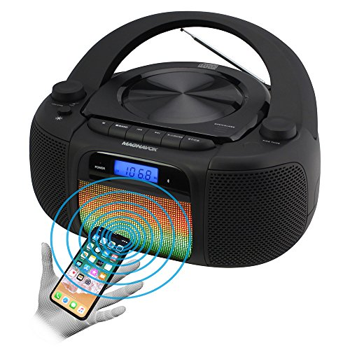 Magnavox MD6972 CD Boombox with Digital AM FM Radio Color Changing Lights and Bluetooth Wireless Technology (Best Cd Radio Boombox)