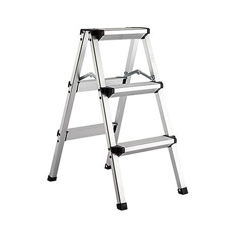 QTQZDD Escalera Plegable Aleación de Aluminio Ultraligero Durable Portátil Plegable Simple, Escalera de 3, 4 escalones de Doble Uso: Amazon.es: Hogar