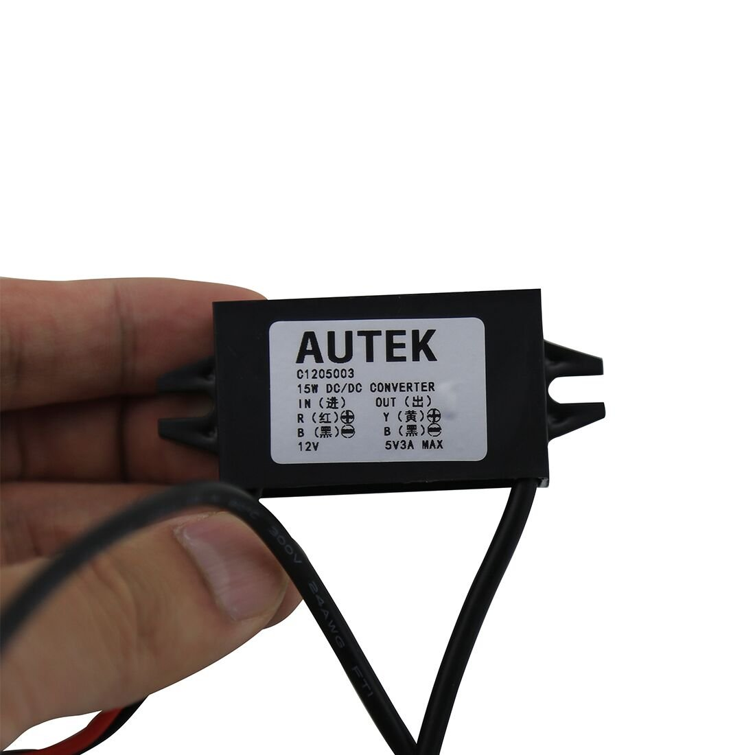 Autek Dc Converter Buck Module 12v Convert To 5v Usb 3a Stepdown Switching Voltage Regulator Schematic With Lm2576t5v Output Power Adapterdccon 5u 0 Home Audio Theater