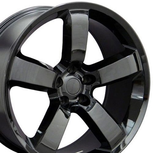 amazoncom 20x9 wheel fits chrysler 300 charger challenger charger srt style black rims set of 4 automotive - Dodge Charger 2013 White Black Rims