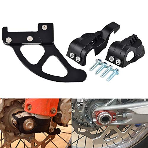 Star-Trade-Inc - Motorcycle Fork Shoes Cover Rear Brake Disc Guard Protector For EXC SX XC XCW 125 200 250 300 350 450 Husqvarna TE FE TC FC ()