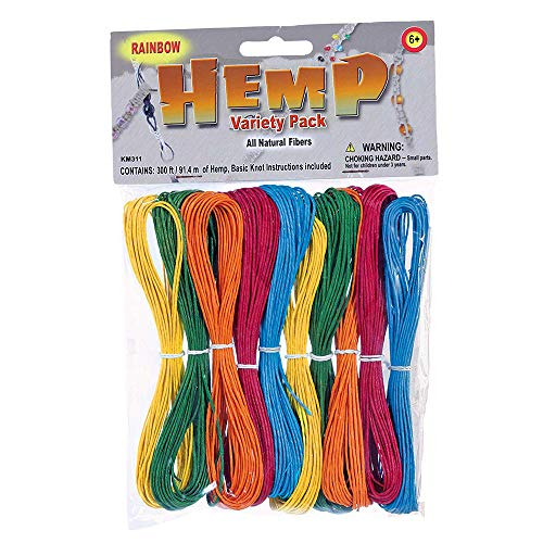 (West Coast Paracord Hemp Variety Pack - Rainbow Color - Jewelry Making Pack)