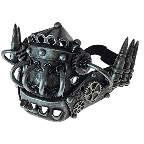 Storm Buy] Steampunk Style Metallic Half Bottom Face Mask Halloween Costume Cosplay -