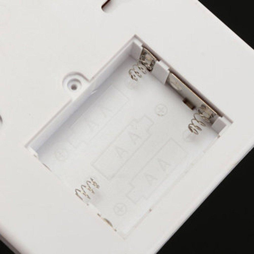 bianco Tastiera wireless con sensore di movimento porta allarme PIR di sicurezza sistema di allarme antifurto per casa garage sicurezza