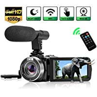 Camcorder Digital Video Camera, Camcorder with Microphone...