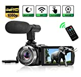 Best Hd Camcorder Under 200s - Camcorder Digital Video Camera, Camcorder with Microphone WiFi Review