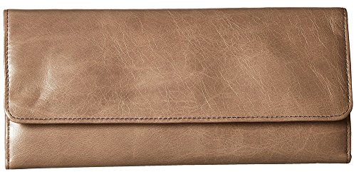Hobo Womens Leather Sadie Continental Clutch Wallet (Ash) by HOBO