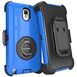 Samsung Galaxy Note 3 Case,Samsung Note 3 Case, BENTOBEN Shockproof Hard Case Cover with Swivel Kickstand Belt Clip Holster for Samsung Galaxy Note 3 Note III N9000 All Carriers, Dark Blue