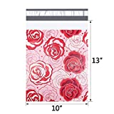 UCGOU Poly Mailers 10x13 Inch Red and Pink Roses