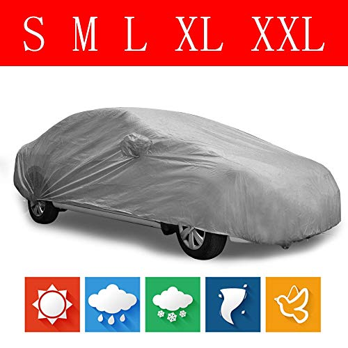 Vizink - Indoor Outdoor Full Car Cover Sun Shade UV Snow Dust Resistant...