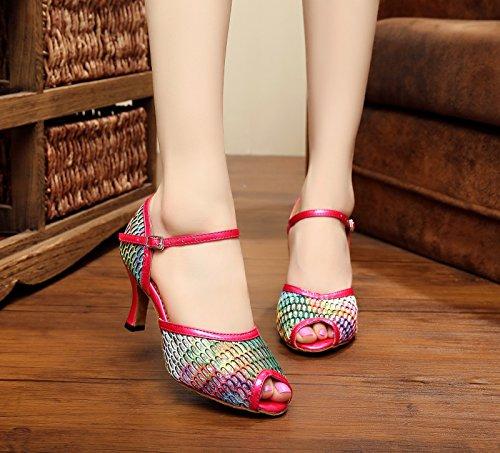 Miyoopark ,  Damen Tanzschuhe Red-7.5cm Heel