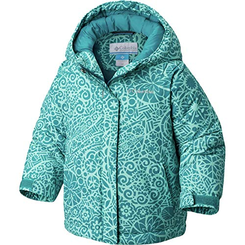 Columbia Girls' Big Horizon Ride Jacket, Emerald Mod Lace Medium