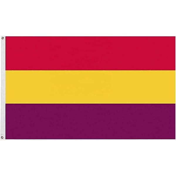 AZ FLAG Bandera Nautica ESPAÑA Republicana SIN Escudo 45x30cm - Pabellón de conveniencia DE LA Republica ESPAÑOLA 30 x 45 cm Anillos: Amazon.es: Hogar