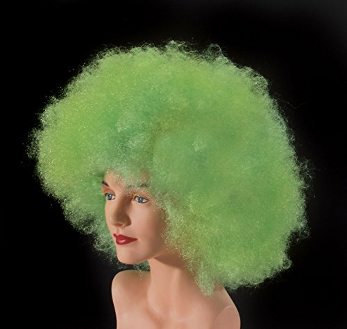 Loftus International Adult Giant Afro Halloween Wig, Lime/Green, One Size Giant Afro Wig