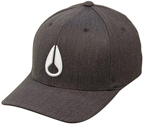 NIXON Deep Down Hat - Black Heather/White - L/XL ()