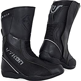 Vykon Navigator Motorcycle Touring Waterproof Boots: Black (44)
