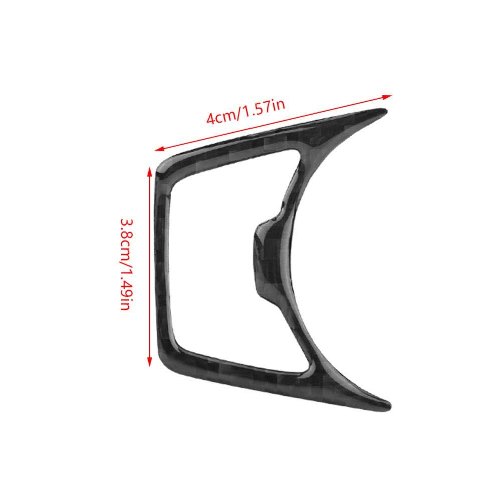 Acouto 2Pcs Car Interior Headlight Switch Frame Cover Trim Carbon Fiber for Ford Mustang 2015-2017
