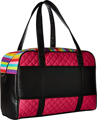 Luv Betsey Women's Cruzin Cotton Weekender w/A Luggage Pass Through On The Back Multi Faux/Green One Size by Luv Betsey (Image #1)