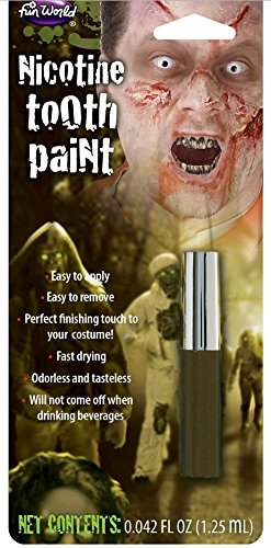 Tooth Paint Colour Stain Make Up Kit Face Horror Halloween Fancy Dress Accessory -