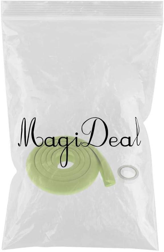 Khaki MagiDeal 5M Kantenschutz L-f/örmige Gummi Sto/ßschutz Eckenschutz Tischkantenschutz Schwamm Sto/ßschutz f/ür Kinder und Baby