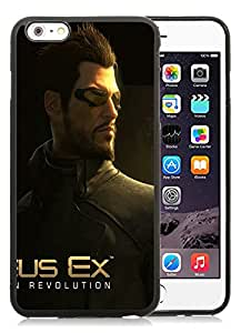 DIY Case Design with Case Deus Ex Human Revolution Adam Jensen Character Face Look iphone 6 PLUS 5.5 INCH TPU Case in Black