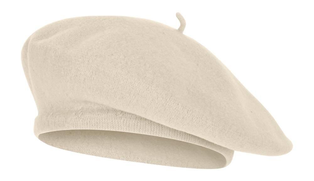 TOP HEADWEAR TopHeadwear Wool Blend French Bohemian Beret Ivory