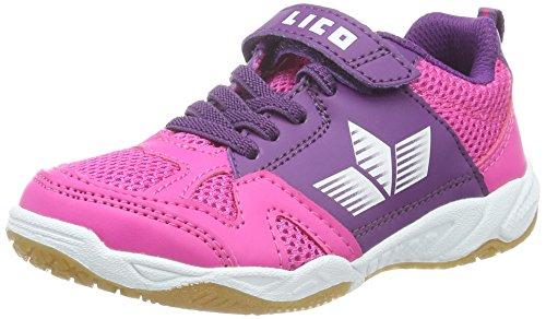 Lico Sport Vs, Zapatillas Deportivas para Interior para Niñas Rosa (Pink/Lila/Weiss)