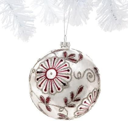Demdaco Paisley Floral Ball Ornament
