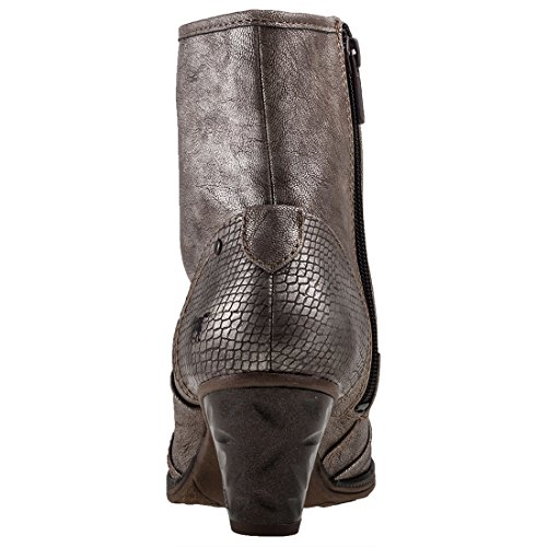 Mustang Metallic High Heel Titan Shoe Femmes Bottines rrCqwdS