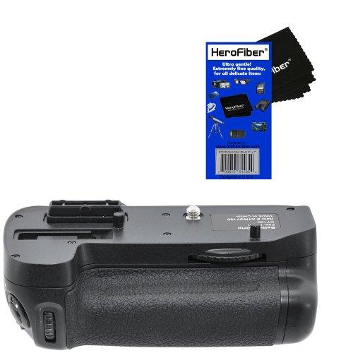 Pro series Multi-Power Battery Grip for Nikon D7100 SLR Digital Camera w/ HeroFiber Ultra Gentle Cleaning Cloth