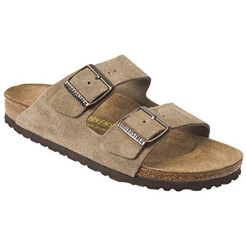 Birkenstock Unisex Arizona Taupe Suede Sandals - 13-13.5 B(M) US Men