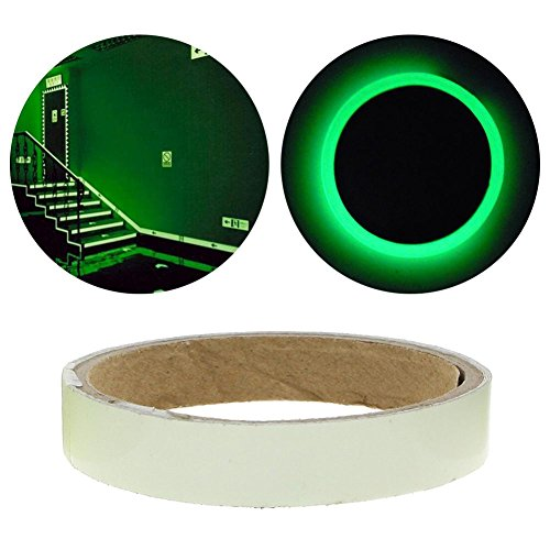 Niome Green Luminous Tape Sticker Removable, Waterproof, Photoluminescent by Niome (Image #1)