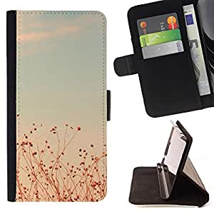 Momo Phone Case / Flip Funda de Cuero Case Cover - Summer Sunset trullo Campos Cielo caliente - HTC Desire 626