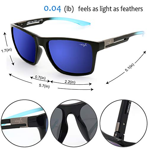 Fishing Polarized Sunglasses for Men Driving Running Golf Sports Glasses Square UV Protection Designer Style Unisex 3