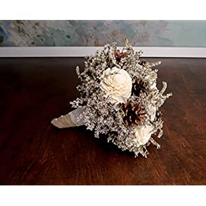 Small Pine Cones Sola Flowers Bouquet 102