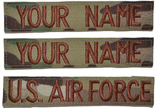 (Custom USAF Multicam/Scorpion/OCP Tape with Uniform Hook Fastener 3pc Set)