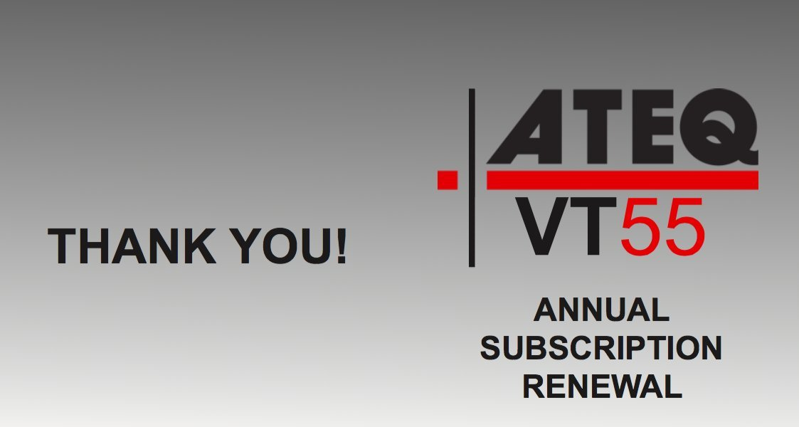 ATEQ VT55 TPMS Reset Tool Annual Subscription Update
