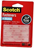 3M Scotch All-Weather EZPass iPass Fastlane Toll Fasteners, 4 Sets of 1 Inch x 3 Inches Strips, Clear (RFD7090)