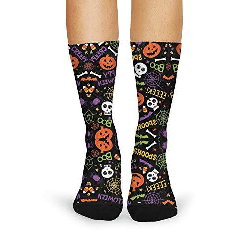 Halloween pumpkin skull Womens Carpet Socks Breathable Funny