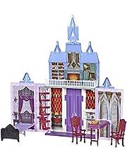 Disney FROZEN Fold and Go Arendelle Castle zestaw do zabawy inspirowany 2 filmem Disneya, przenośna zabawa - zabawka dla dzieci w wieku od 3 lat